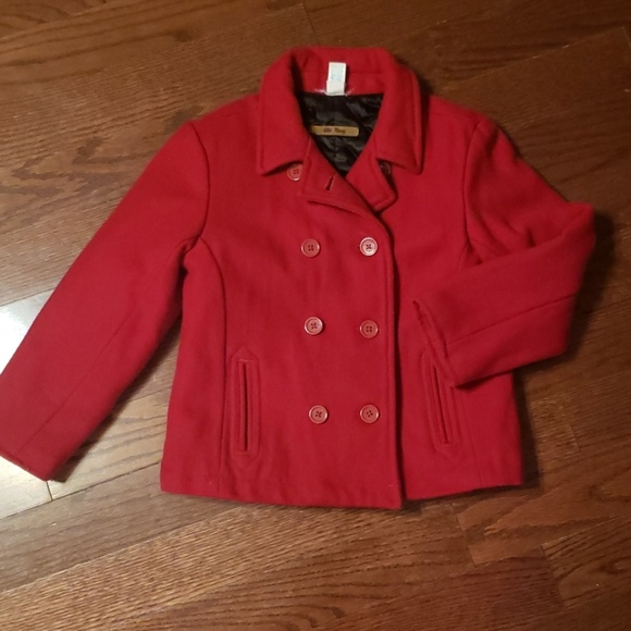 Old Navy Other - Old Navy girls size small red peacoat